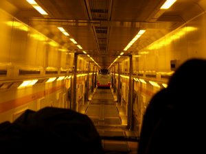 """A coach on a train. It makes me wish I had a series of other, smaller vehicles on board, one inside the other, like a mechanical {link url=""""http://en.wikipedia.org/wiki/Turducken"""" target=""""_blank"""" rel=""""nofollow""""}turducken{/link}. (photo: {link url=""""http://www.flickr.com/photos/eluceo/"""" target=""""_blank"""" rel=""""nofollow""""}eluceo.de{/link})"""